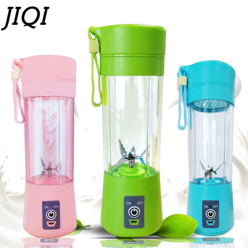 Portable mini electric juicer Multifunctional electric fruit Juice Machine USB Rechargeable Pocket Sports Bottle cup Blender bear 220 v hand held electric blender multifunctional household grinding meat mincing juicer machine