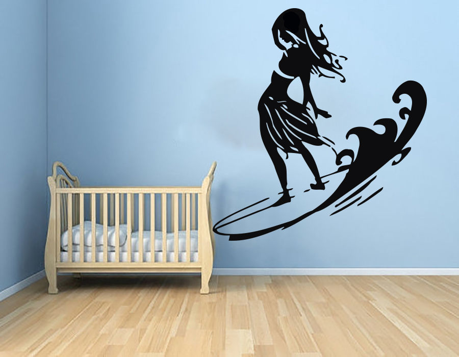 Wall Decals Surfing Decal Vinyl Sticker Bathroom Window Bedroom Sport Decor China Mainland