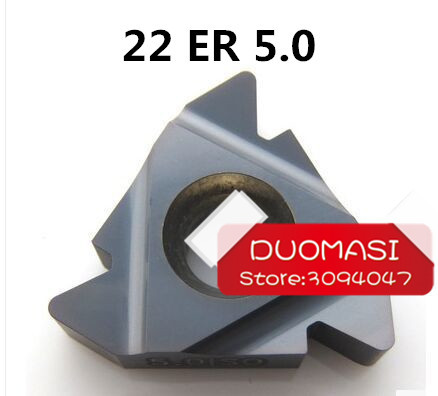 22 ER 5.0 ISO Carbide Threading Inserts Internal Threading Insert Indexable Lathe Inserts for Threaded Cutter Lathe Tool