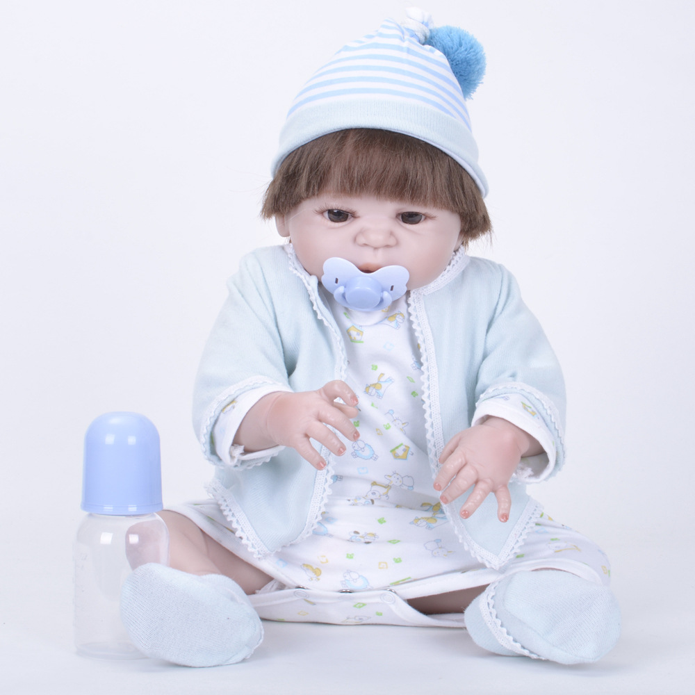 Doll Baby Born 22 Inch Reborn Dolls Full Body Silicone Reborn Girl Baby Doll Toy for Kid SF5529 Dolls with Clothes for Baby Boy baby born dolls handmade doll bjd dolls reborn silicone baby dolls accessories lol kid toy gift kawaii brand dropshipping
