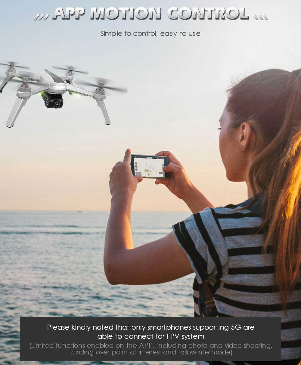 JJRC JJPRO X5 RC Drone 5G WiFi FPV Drones GPS Positioning Altitude Hold 1080P Camera Point of Interesting Follow Brushless Motor 16
