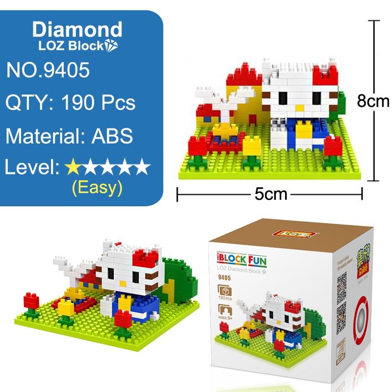 ZRK Kitty Hello Cat Brick Mini Micro Figure Nano Building Block Gift Toy