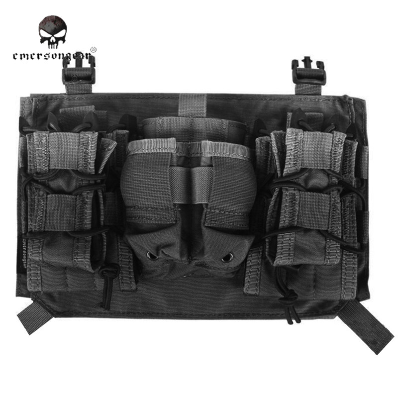 emersongear Tactical Magazine Pouch Platform Set Assault Panel For 419 420 Vest Molle Military Hunting Pouches Pack professional new silver plated trumpet bb keys with monel valves horn case