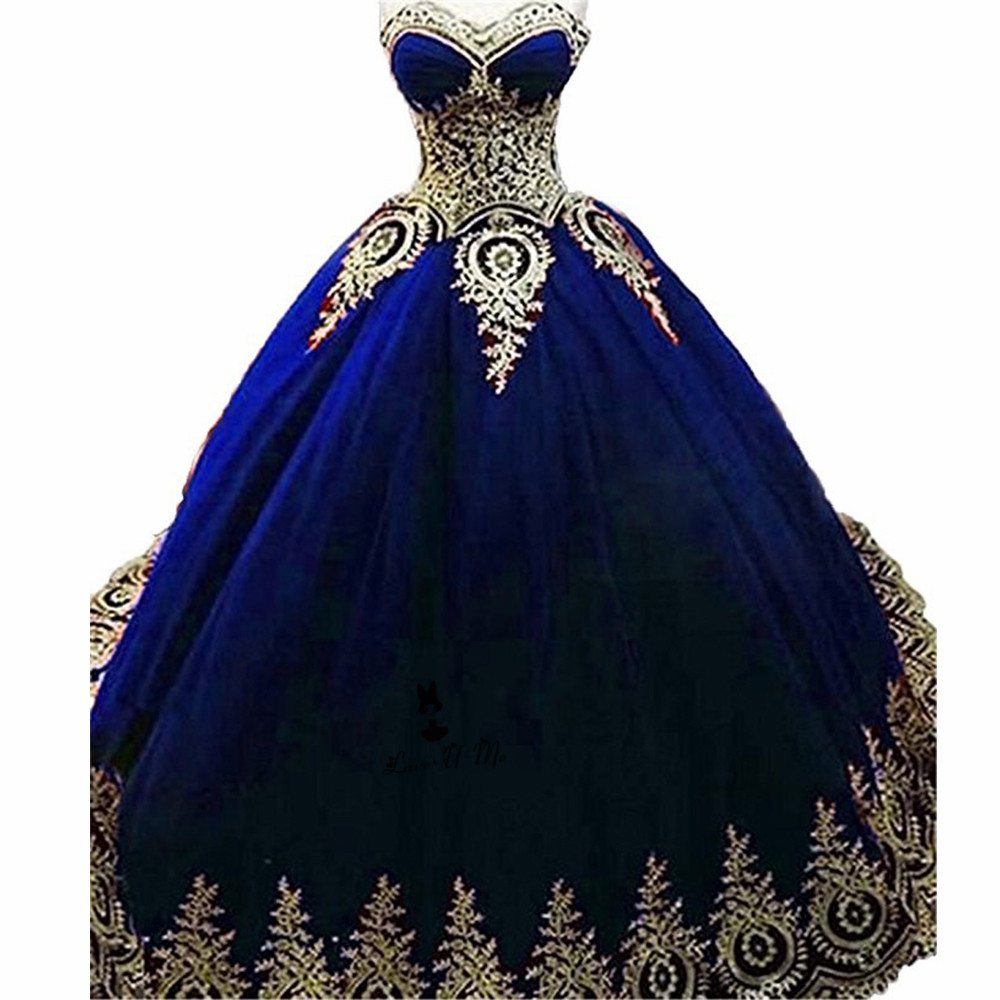 8969a5f6dea Royal Blue Burgundy Gold Lace Quinceanera Dresses Ball Gown 2018 ...