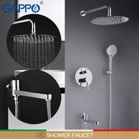 GAPPO shower faucets bathroom shower faucet bath shower head set mixer bathroom waterfall rain shower panel bath faucet tap