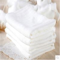 10 шт./упак. детские бамбуковые волокна марлевые пеленки белый Новорожденные подгузники ткань с мягким 70*50 см