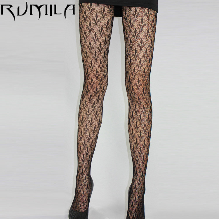 Fashion Womens Lady Girls Black Sexy Fishnet Pattern Jacquard Stockings Pantyhose Tights skull Woman 1pcs dww43 image