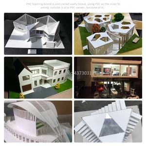 Image 5 - 5pcs 300x200mm לבן/שחור PVC קצף לוח עבור DIY בניית בעבודת יד דגם ביצוע חומר פלסטיק שטוח לוח
