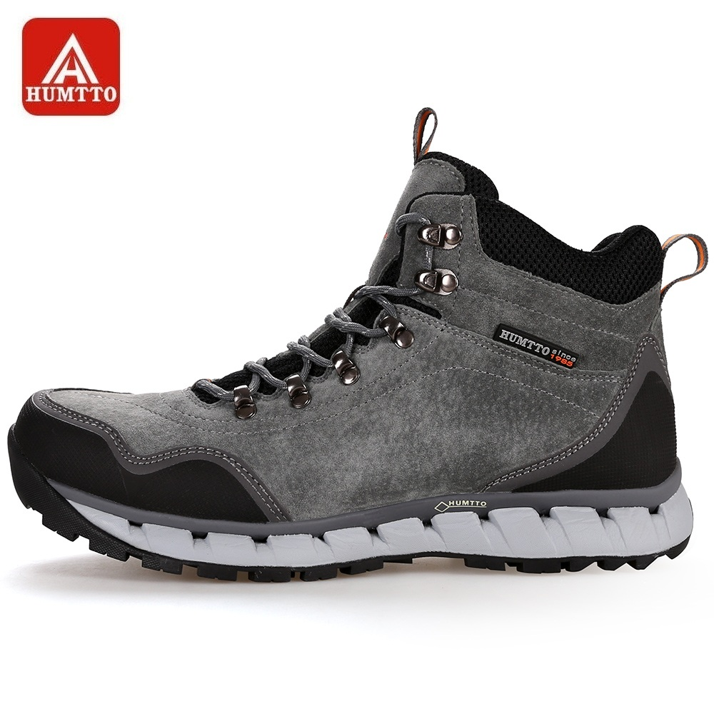 HUMTTO Men Hiking Shoes Winter Outdoor Tactical Boots Lace up High Cut Sneakers Tourism Mountaineering Climbing