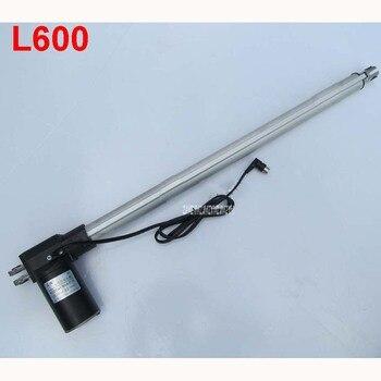 L600 24 inch corsa 600mm corsa attuatore lineare Elettrico motor DC 24V 5/10/30 mm/s Heavy Duty Pusher Progressiva 600/300/100kg