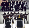 Block B album surrounding Li Tai ZICO in same fleece / wool baseball uniform cardigan men / women in the spring /autumn/ winter