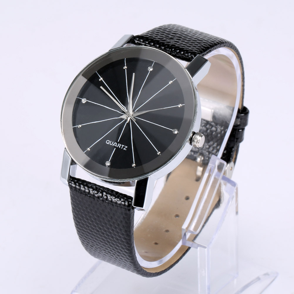 Luxury Simple Couple Watch Crystal Men Women Quartz Sport Military Watches Steel Dial PU Leather Band Casual Wristwatch LL@17 longbo simple square dial lovers quartz watch casual fashion steel strap watches men women couple watch sports analog wristwatch