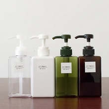 Soild Color Soap Dispenser Cosmetics Bottles Bathroom Hand Sanitizer Shampoo Body Wash Lotion Bottle Empty Bottle Travel Bottle