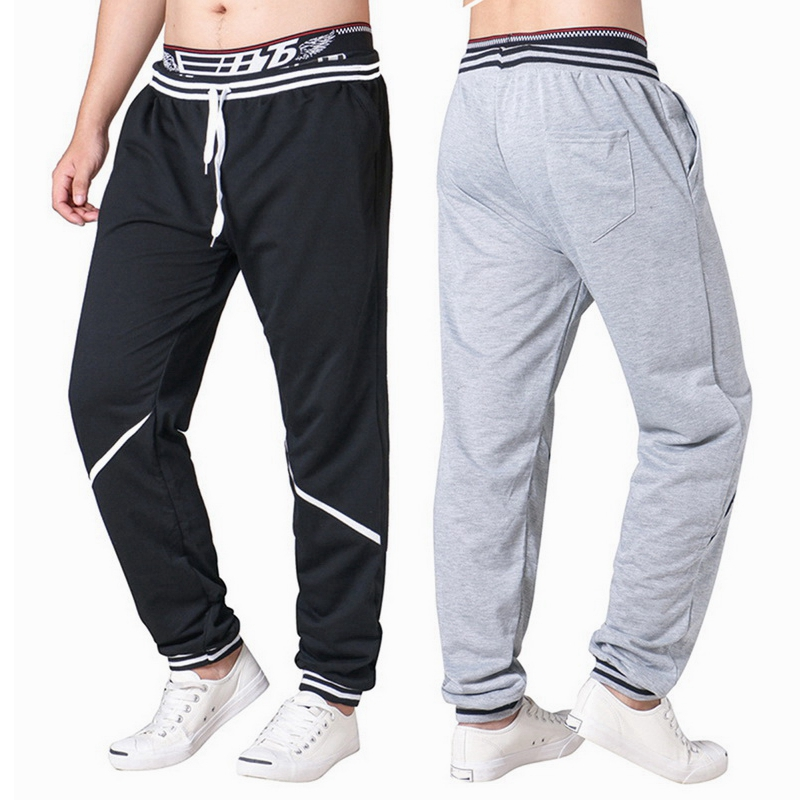 CALOFE 2018 Autumn Men Sweat Pants Drawstring Running Pants Male Leggings Gym Jogging Trousers Streetwears Patchwork drawstring contrast stripe jogger pants