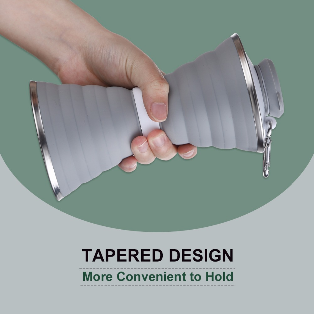 Collapsible Water Bottle Foldable Lightweight Travel Bottle Eco Friendly Food Grade Material Portable Convenient Drinkware 500ML in Water Bottles from Home Garden