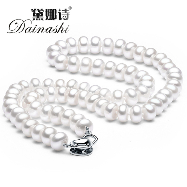 Dainashinew fashion vintage pearl necklace for women 100 natural dainashinew fashion vintage pearl necklace for women 100 natural freshwater pearl high aloadofball Image collections