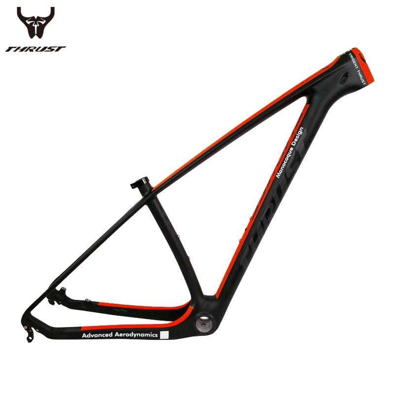 все цены на THHRUST Carbon mtb Frame 29er T1000 Carbon Mountain Bike Frame 29er 27.5 Bicycle Carbon Frame 15 17 19 inch 7 Colors онлайн