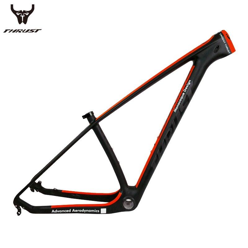THHRUST Carbone vtt Cadre 29er T1000 Carbone Vtt Cadre 29er 27.5 Vélo Cadre En Carbone 15 17 19 pouce 7 couleurs