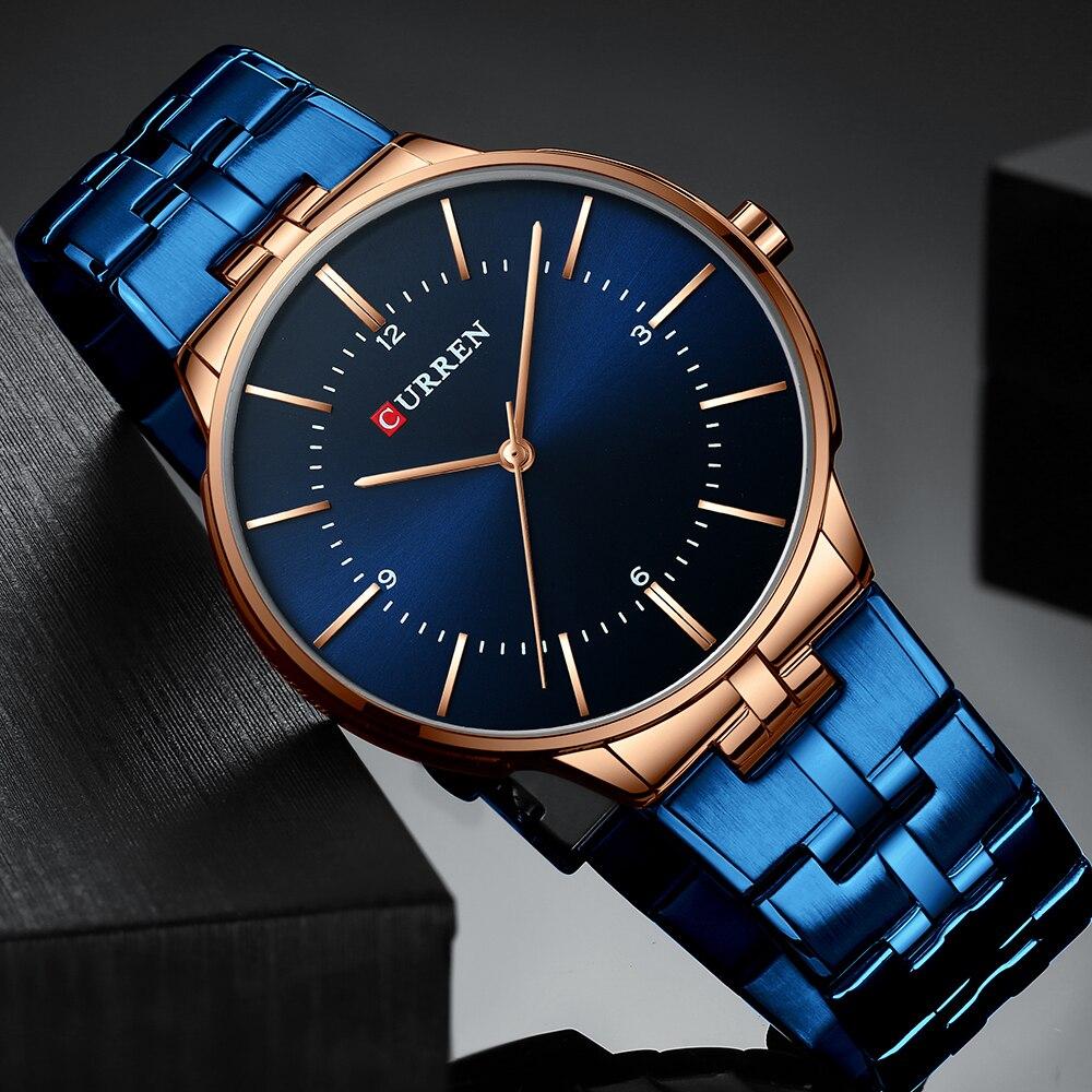 CURREN Relogio Men Watches Fashion Blue Man Watch