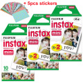 Genuine 50pcs Fuji Fujifilm Instax Mini 8 Film White Edge For 8 7 7s 50s 90 25 dw 50i Share SP-1 Instant Cameras Fast Shipping