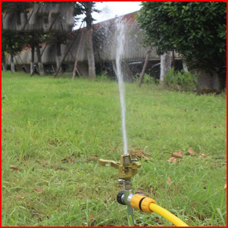1 Set Garden Sprinkler Automatic 360 Degree Rotating Trident Watering Machine Adjustable Easy To Use For Yard Lawn Outdoor in Watering Kits from Home Garden
