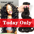 Today Only! 3 Bundles Brazilian Virgin Hair Body Wave Queen Hair Brazilian Body Wave 8A Mink Virgin Brazilian Hair Weave Bundles