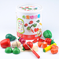 13Pcs woodiness Fruit Vegetable Kitchen Cutting Toy Early Development and Education Toy for Baby Kids Children