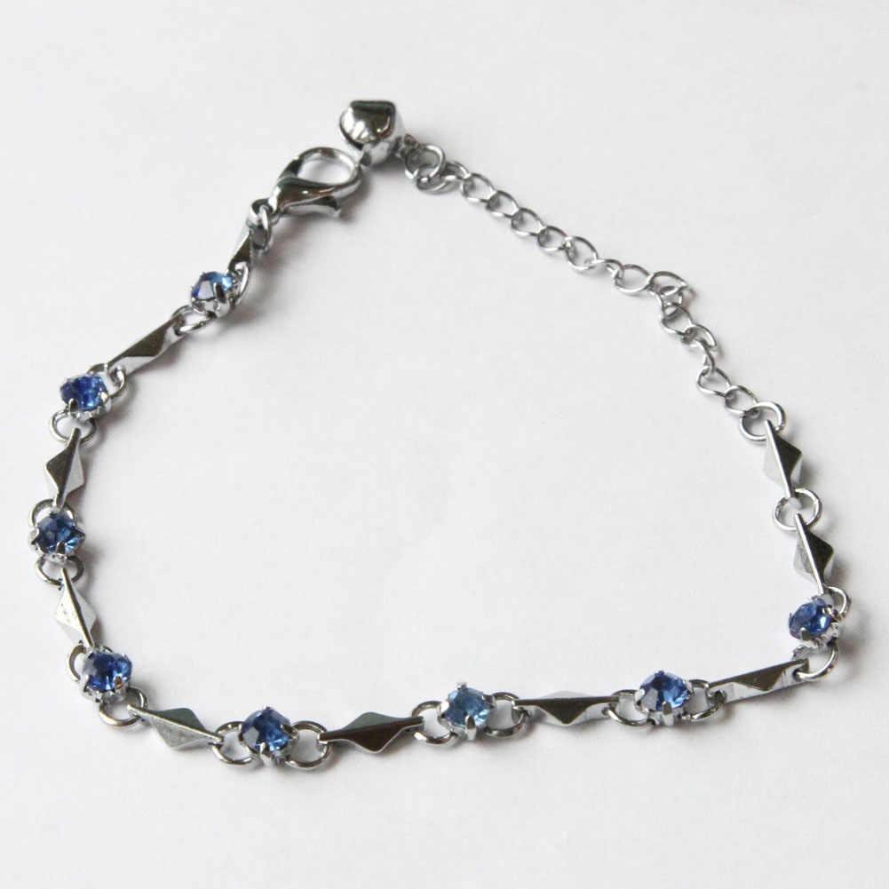 Chất Lượng hàng đầu Tím Cổ Tay Charm Bracelet Cubic Zirconia Sức Vòng Đeo Tay Cho Phụ Nữ Gift 9 Colors