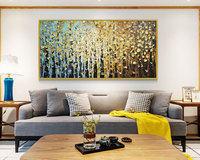 Hand painted modern home decor room hall wall art picture white orchid flower thick colors oil painting on canvas