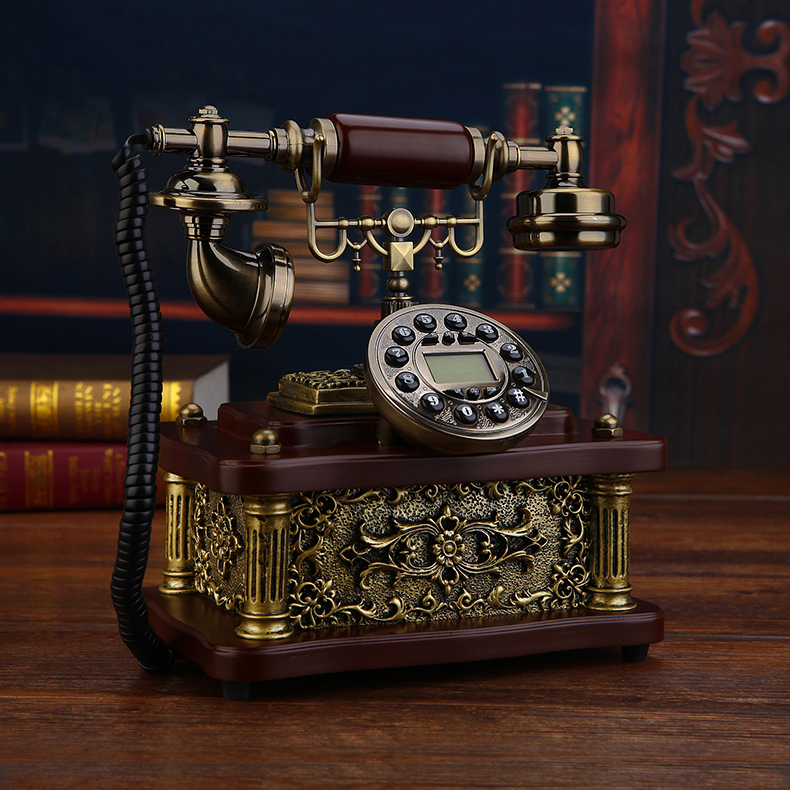 Fashion phone vintage antique telephone household Hands free backlit version Caller ID