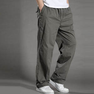 ROUYHUAL Summer Cargo Pants Men Casual Work Male Trousers