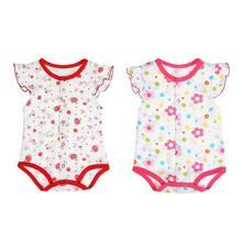 Summer Baby Short Sleeve Floral Animal Print Cotton Romper
