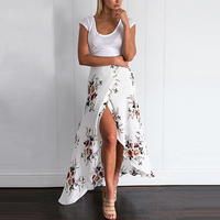 FANALA Summer Dress Women Maxi Long Beach Skirt 2017 Sexy Skirts High Waist Asymmetrical Skirt Vintage