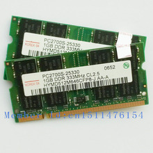 2GB 2x1GB PC2700 DDR333 200PIN Notebook memory DDR laptop RAM Original authentic SODIMM Computer Free shipping