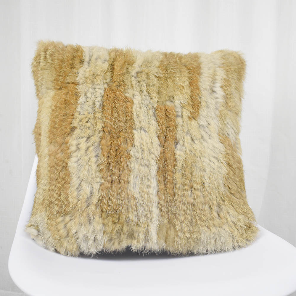 rabbit fur pillow case knitted (7)