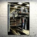 Back To The Future Car DeLorean DMC-12 Movie Fan Art POSTER 13x20 24x36 inch  (NEW)