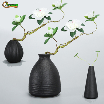 Classic Black Ceramic Vase Chinese Arts And Crafts Decor Contracted
