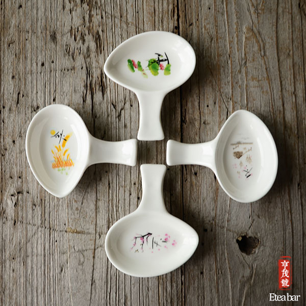 Eco-friendly tableware japanese type plate dish ceramic porcelain under glazed round plate Small mustard : eco friendly tableware - pezcame.com