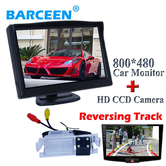 """Trazer Dinâmica linha pista + 4 led car câmara de visão traseira com 5 """"monitor de tela de carro 2 em 1 apto para Kia K2 Rio Hatchback à venda"""