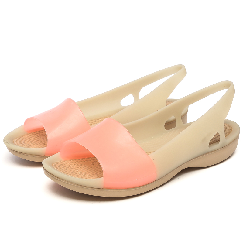 Rainbow Jelly Shoes Women Wedges Sandalias Woman Sandals Summer New Candy Color Peep Toe Stappy Beach Valentine Mujer Slippers new england pубашка