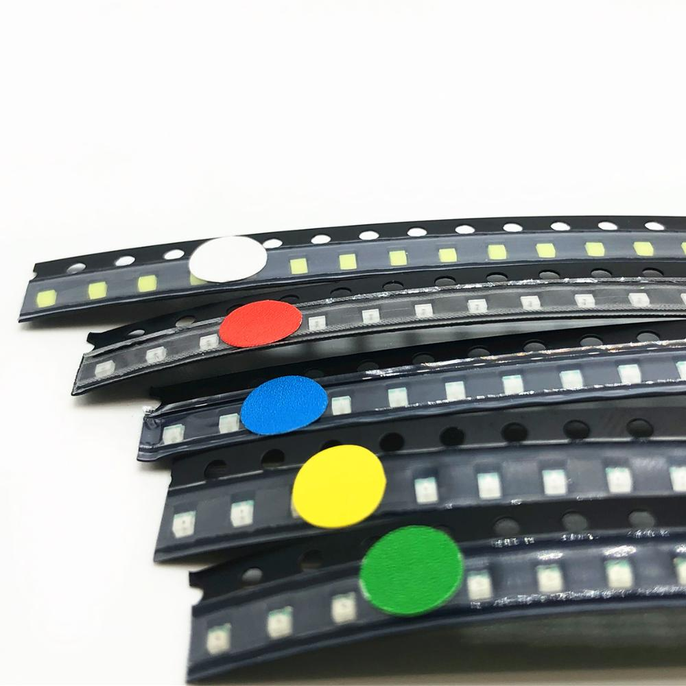 Red Jade-green Blue Yellow 600pcs Flash 0805 Led Diode Mixed Orange White 0805 Smd Leds Blinking Flashing Led Diod