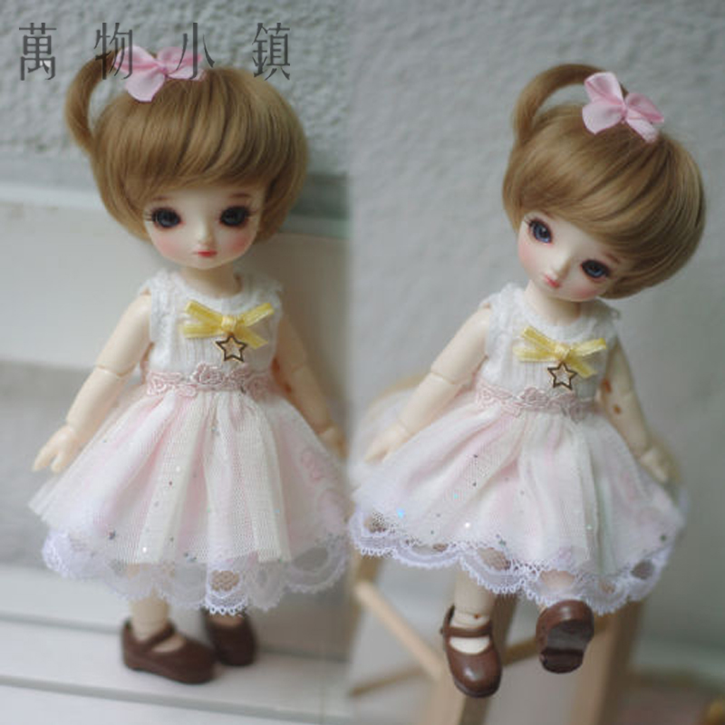 New 1/4 1/6 1/8 AE BJD Pink Clothes/Outfit Lovely Sweet Princess Dress/Skirt/Suit(2pcs) BJD Doll Clothes sweetie chocolate mousse european retro outfit dress suit for bjd doll 1 6 yosd doll clothes lf9