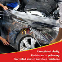 TPU Haut Schutzhülle Film Auto Auto Hood Farbe Schutz Aufkleber Anti Scratch Klare Transparenz Film 1,52 m x 5 m