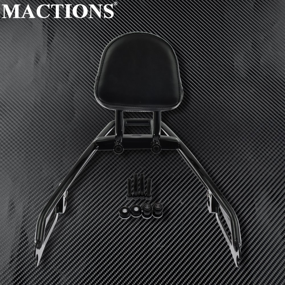 Black Detachable Luggage Backrest Holder Rack Sissybar Rear Passenger Backrest For Harley Street 500 XG500 750