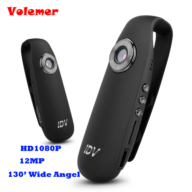 Volemer Mini cámara DV bucle Video grabadora de voz HD 1080 p 12MP 130 gran angular Detector de movimiento Mini videocámaras IDV 007 PK SQ11