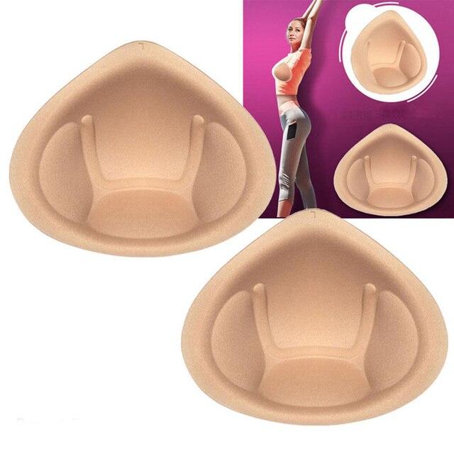 1 paire accessoires intimes femmes éponge mousse soutien-gorge coussinets insérer Push Up poitrine tasses poitrine faux Boob rehausseur respirant lavable