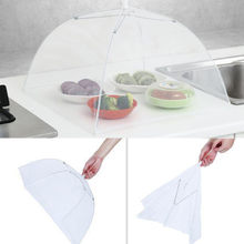 1 PC Pop Up Mesh Screen Food Covers Large Pop-Up Mesh Screen Protect Food Cover Tent Dome Net Umbrella Picnic Food Protector(China)