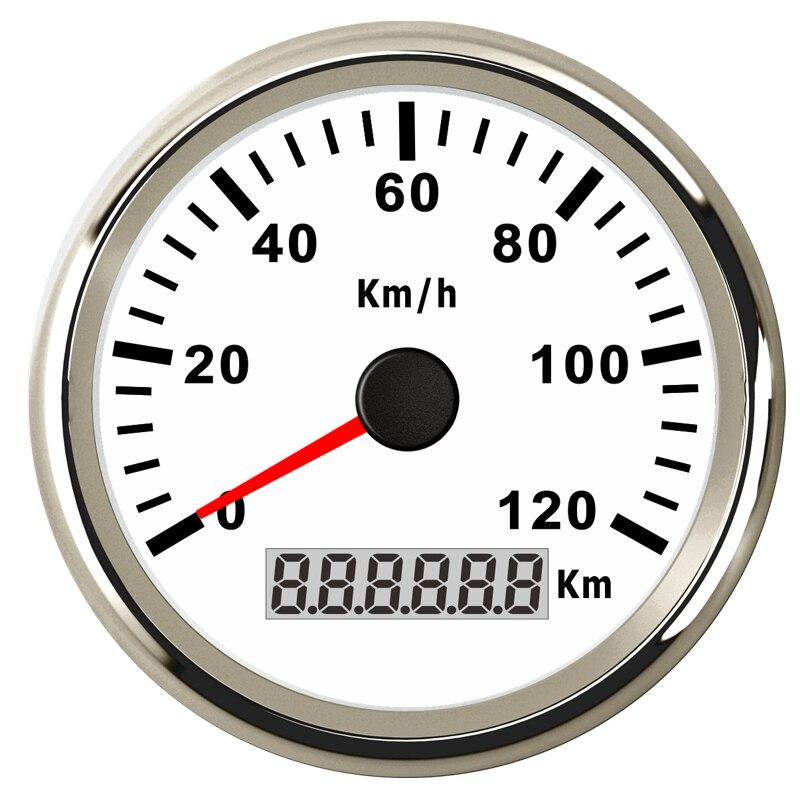 316L Lünette 85mm 120KMH Boot GPS Tacho Digital Manometer für Auto Lkw Boot 12 v 24 v Schiff Yacht IP67 Wasserdichte Digital Manometer
