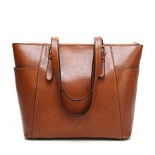 Best Selling Female Causal Totes New Brand Women Shoulder Bag High Quality Zipper Ladies Handbag Solid Leather Bolsa Feminina