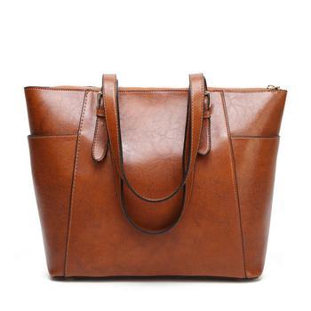 Best Selling Female Causal Totes New Brand Women Shoulder Bag High Quality Zipper Ladies Handbag Solid Leather Bolsa Feminina